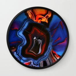 Agate, What springs from Earth dissolves to Earth again Wall Clock