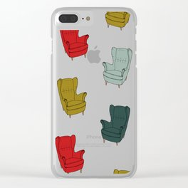 Seventies Armchair Pattern - Version 1 #society6 #seventies Clear iPhone Case