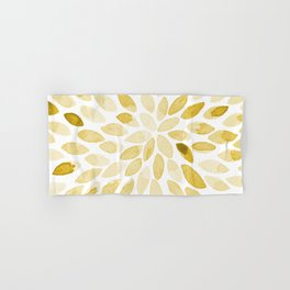 Watercolor brush strokes - yellow Hand & Bath Towel