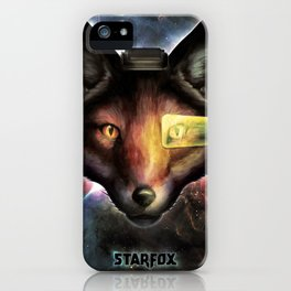 Star Fox McCloud Epic Space Poster iPhone Case