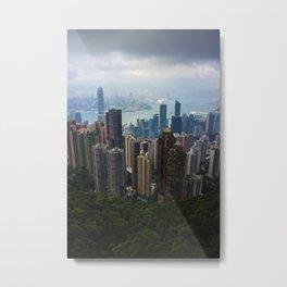 Hong Kong Cityscape Metal Print