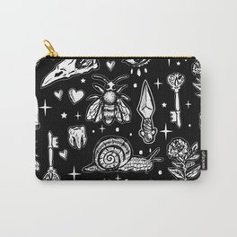 Full Of Secrets Witchy Goth Punk Pattern Carry-All Pouch