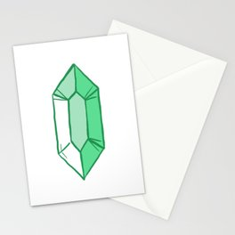 Green Crystal Stationery Cards