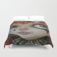 circus Duvet Covers featuring Circus  by Bella Harris