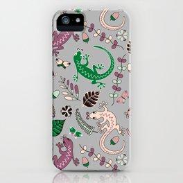 Pink lizards iPhone Case
