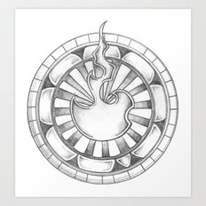 Flame Circle Art Print