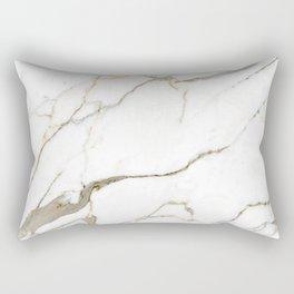 White Marble Rectangular Pillow