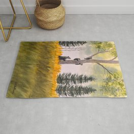 Bears In The Blue Ridge Mountains Rug