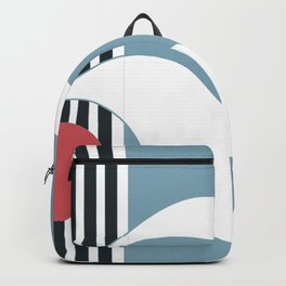 Out To Sea Maritime Abstract #blue #maritime #abstract #minimal #art #design #kirovair #buyart #deco Backpack