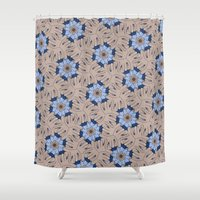 kevin russ Shower Curtains featuring Kevin Lumsey Tessellation by Feene
