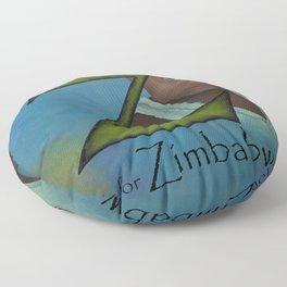 Z is for Zimbabwe Floor Pillow