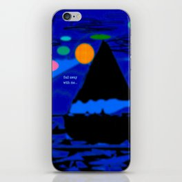 CUSTOM LETTERING - Sail Away With Me iPhone Skin