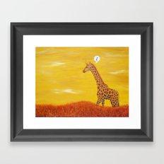 O-Giraffe Framed Art Print