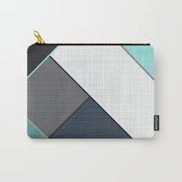 Grey-blue-black pattern . Abstraction . Patchwork . Carry-All Pouch