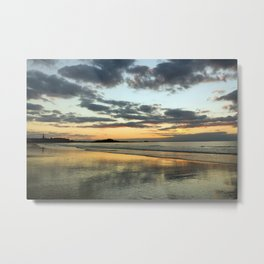 Sunset on the beach (St Malo, Brittany, France) Metal Print