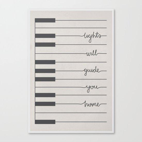 Piano Fix You lyrics Canvas Print