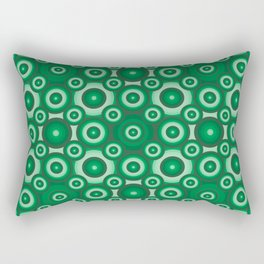 Green Monochrome Geoemetric Mosaic Pattern Rectangular Pillow