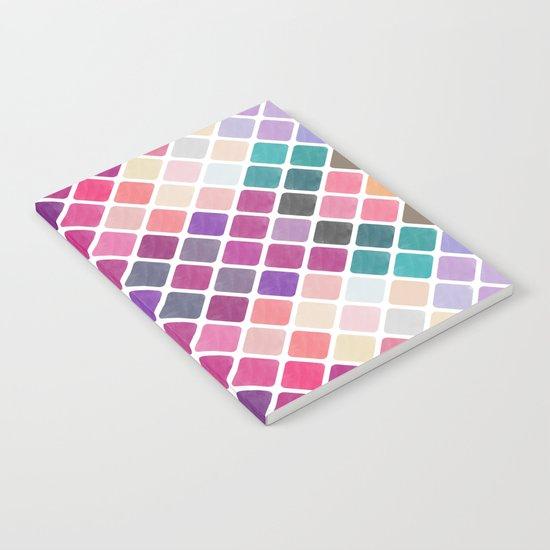 Watercolor Geometric Pattern III Notebook