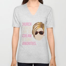 Karen - Church is over Time to Scream at Minorities Unisex V-Neck