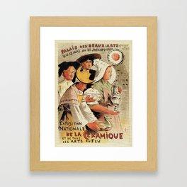 French belle epoque pottery expo advertising Framed Art Print