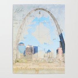 Gateway Arch, Saint Louis USA Poster