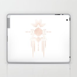 Mandala Flower of Life Moon Pink Rose Gold Laptop & iPad Skin