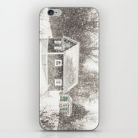cape cod iPhone & iPod Skins featuring Cape Cod Snowstorm by ELIZABETH THOMAS Photography of Cape Cod