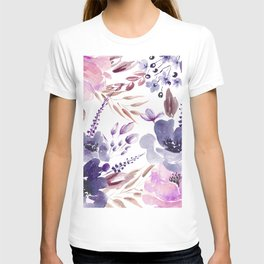 Watercolor giant flowers T-shirt