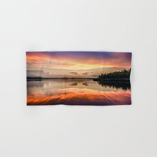 Sunset Symmetry Hand & Bath Towel