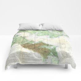 Patapsco River and Chesapeake Bay Map (1857) Comforters