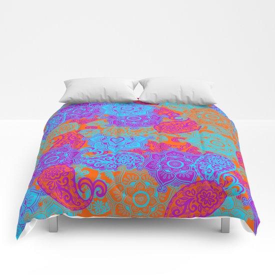 vibrant paisley Comforters