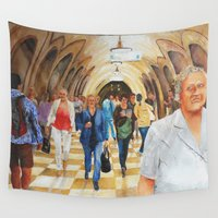 moscow Wall Tapestries featuring Moscow Metro by Eli Gross Art