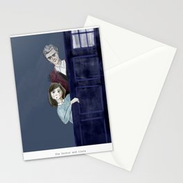 The Doctor and Clara Stationery Cards