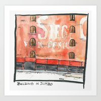 dumbo Art Prints featuring DUMBO by Marion L