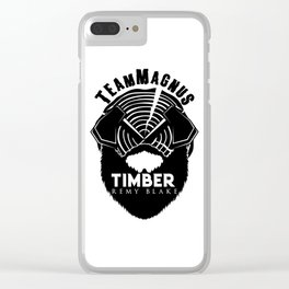 TIMBER By Remy Blake Clear iPhone Case