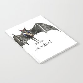 Halloween Welcome to the Ball Vampire Bat Greeting Card Notebook