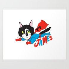 Super James Art Print