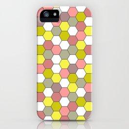 honeycomb tile mauve iPhone Case
