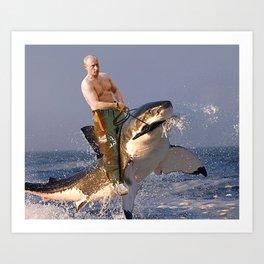 Vladimir Putin Funny Meme Art Print