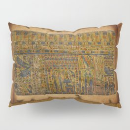 Ancient Egyptian Funerary Scroll pre 944 BC Pillow Sham