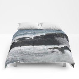 Waves Crashing on the Coast Comforters