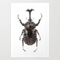 Geometric Entomology II Art Print