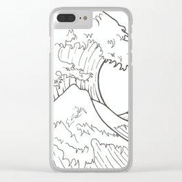 The wave of Kanagawa Clear iPhone Case
