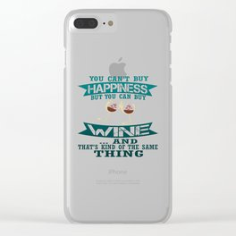 Wine is Happiness Clear iPhone Case