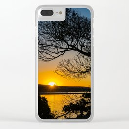 Sunrise Under the Wedge Tree Clear iPhone Case