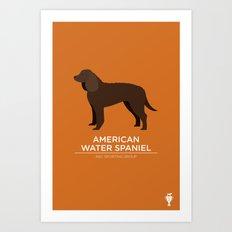 American Water Spaniel Art Print