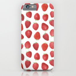 Strawberries watercolor iPhone Case