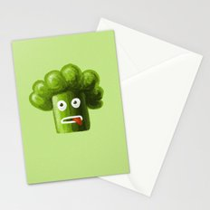 Stressed Out Broccoli Stationery Cards