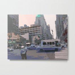 NY#6 The New Yorker, Manhattan Metal Print