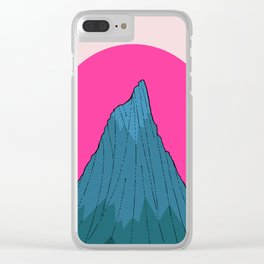 The lonely morning Peak Clear iPhone Case